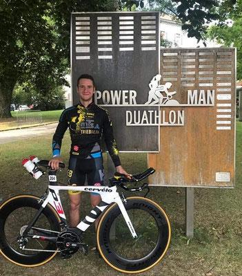 Der von iQ athletik unterstützte Sportler Tobias Eise ist Duathlon-Weltmeister