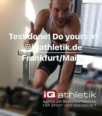 Der Triathlet Patrick Lange bei der Leistungsdiagnostik