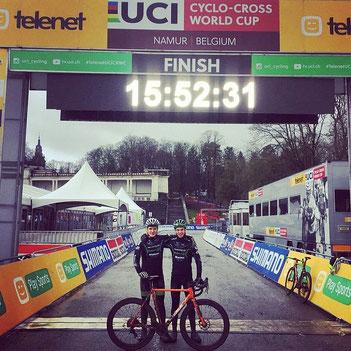 Till Drobisch und Marcel Lehrian beim CX-Weltcup in Namur, Belgien