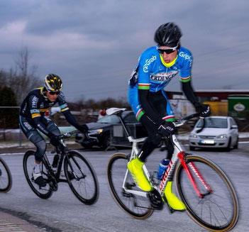 Dominik Merseburg bei Radrennen in Trierweiler