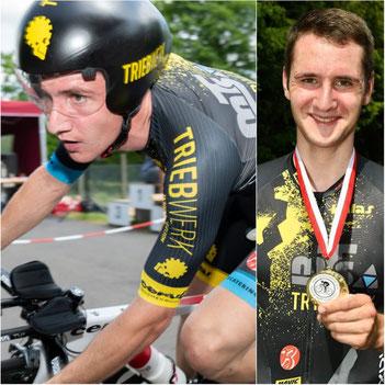 Die von iQ athletik unterstützte Radsportler Tobias Eise ist Hessenmeister im Einzelzeitfahren