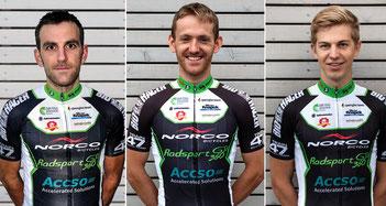 Siegertypen mit Herzblut: Gerrit Rosenkranz, Sascha Starker und Till Drobisch vom Radsport 360 Racing Team