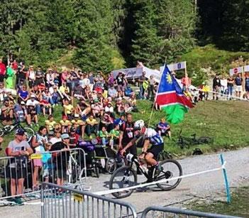 Till Drobisch bei der UCI Mountainbike Weltmeisterschaft