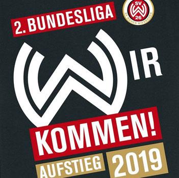 Der SV Wehen Wiesbaden steigt in die zweite Bundesliga auf