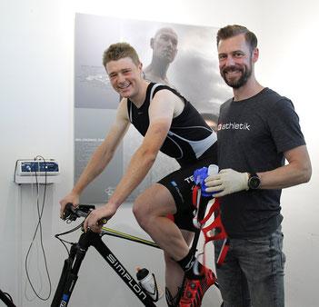 Leistungsdiagnostik mit dem Elite-Mountainbiker Fabian Ziegler vom Team Texpa-Simplon