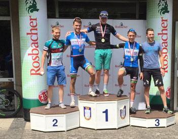 Podium beim Schottener Vulkan-Bike-Marathon