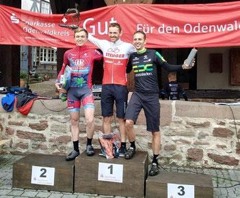 Der von iQ athletik trainierte Mountainbiker Sascha Starker fährt in Michelstadt einen Doppelsieg ein