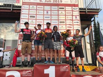 Der von iQ athletik trainierte Mountainbiker Fabian Ziegler wird 2. beim Härtsfeld MTB-Marathon