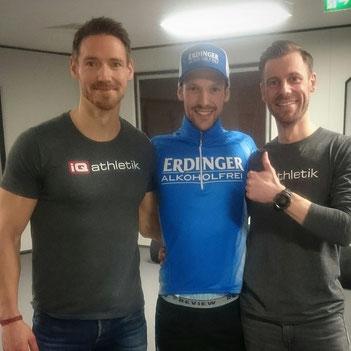 Sportwissenschaftler Andreas Wagner, Triathlet Patrick Lange, Sebastian Mühlenhoff (Sportwissenschaftler)