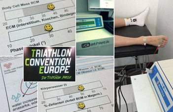 Bioelektrische Impedanzanalyse (BIA) auf der Triathlon Convention Europe