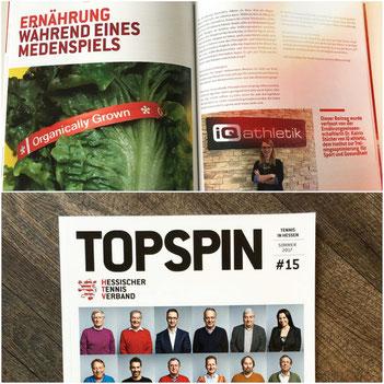 TOPSPIN Magazin zum Thema Ernährung