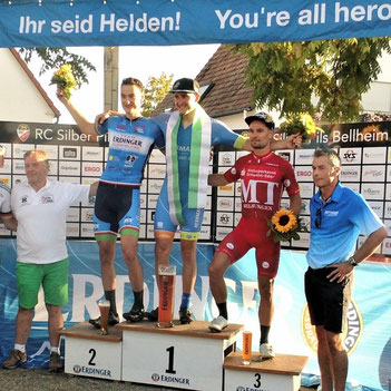 Joschka Beck wird 2. beim Großen Erdinger Preis (Foto: Cycling Team Erdinger Alkoholfrei)
