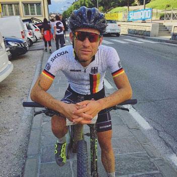 Julian Stumpf bei der UCI Mountainbike Marathon Weltmeisterschaft