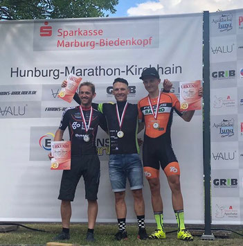 Julian Stumpf siegt vor Sascha Starker bei den Hessenmeisterschaften im MTB-Marathon