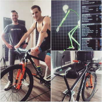 Marcel Lehrian vom Storck Bicycle Team zum Bikefitting bei iQ athletik