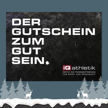 Gutschein von iQ athletik - Geschenktipp zu Weihnachten