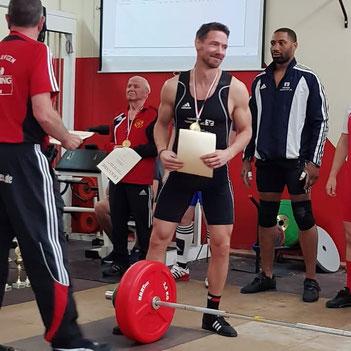 Andreas Wagner bei den Südhessenmeisterschaften im Gewichtheben