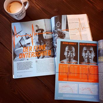 Ein Bericht über Leistungsdiagnostik und Trainingsplanung im RennRad Magazin 3/2018