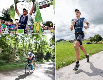 Der Triathlet Horst Reichel beim Trumer Triathlon