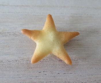 Gebackene Hippe, hergestellt mit einer Schablone, Motiv Stern