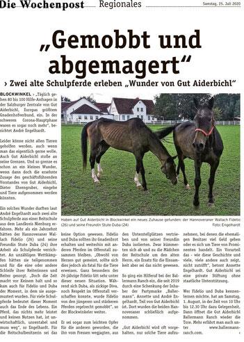 Annette u. Andre Engelhardt nehmen zwei gerettete Schulpferde auf