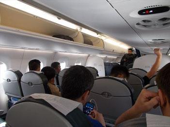 ブラジルメーカーのエンブラエルE190という飛行機。