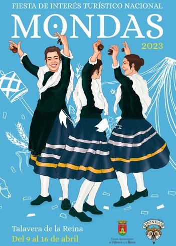 Cartel y Programa de las Fiestas de las Mondas en Talavera de la Reina