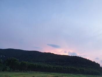 Hinter der Lang Co Bay geht die Sonne unter