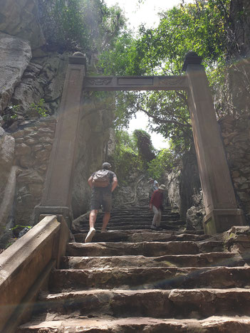 Treppe der Marble Mountains
