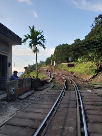 Schienen beim Lang Co Ba, Hai Van Pass, Vietnam