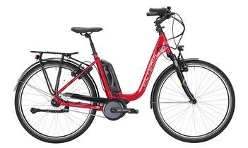 Bild: Victoria e-Trekking 7.6 Bosch Intiuvia pedelec im Fahrradverleih auf rügen