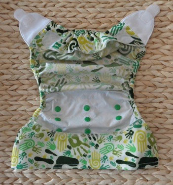 culotte de protection imperméable pour couches lavables en PUL imperméable Baby wizard avec 2 rabats