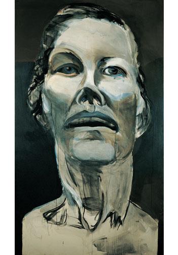 Alke Brinkmann, Tote Mutter, 290cm x 170cm, Acryl auf Nessel, 1994