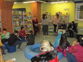 Veranstaltung für Diesterweg-KInder und ihre Familien in der Offenbacher Stadtbibliothek, Februar 2020