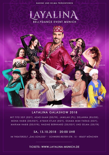 Layalina Tanzshow Flyer