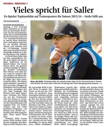 Garmischer Tagblatt vom 21.04.2015
