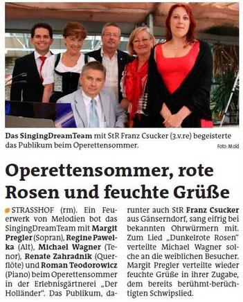 Strasshofer Operettensommer 2012