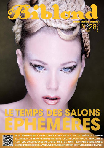 Couverture BIBLOND n°28 Hair : Sandrine Ruiz Makeup : Carole Petrigno Photo : Stéphane Sanchez
