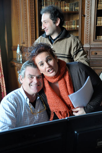 "With Laura Cherici, Ottaviano Tenerani, ""Germanico"" recording, Lonigo, Italy"