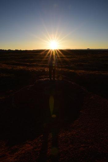 Sonnenuntergang im Needles Outpost Campground