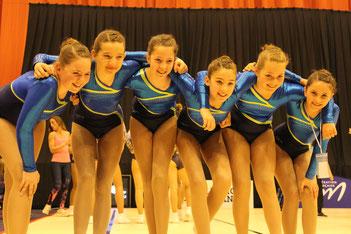 Fédéral A 10-14 : Julia,Camille,Coralie,Charlotte,Axelle,Yael