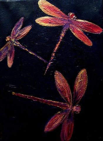 Libellenglanz, Öl auf Leinwand, 18x13cm, 70 €