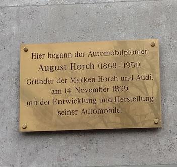 Gedenktafel August Horch