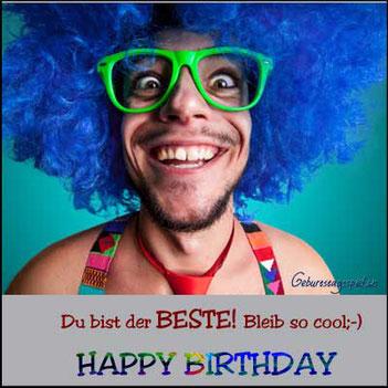 Lustige Geburtstagswünsche für Männer