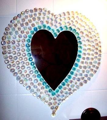 Mosaique en galets de verre