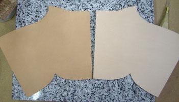 Comparatif cuir sec et humide