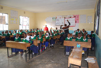 Unterricht an der Sanya Hoye Primary School, Januar 2021