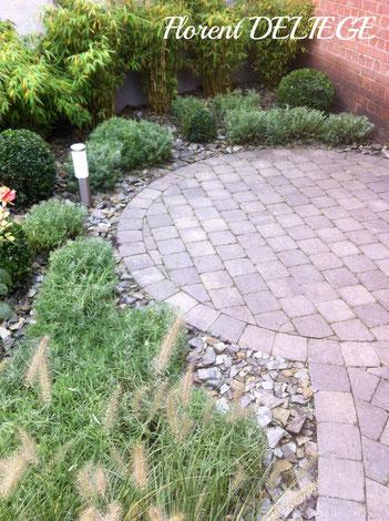 aménagement extérieur terrasse plantation jardin
