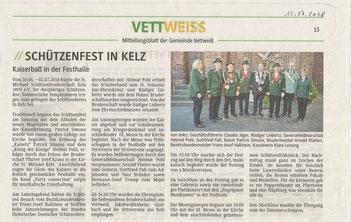 Mitteilungsblatt der Gemeinde Vettweiß vom 15. Juli 2018