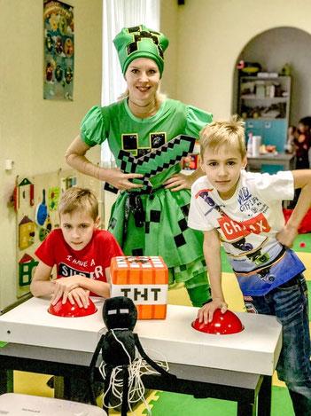 майнкрафт вечеринка для детей на детский день рождения